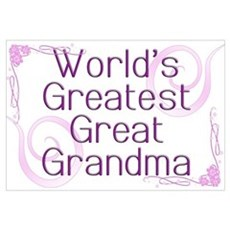 World's Greatest Great Grandma Framed Print