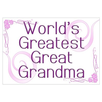 World's Greatest Great Grandma Canvas Art