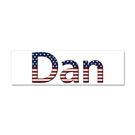 Dan Stars and Stripes 10x3 Car Magnet