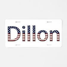 Dillon Stars and Stripes Aluminum License Plate