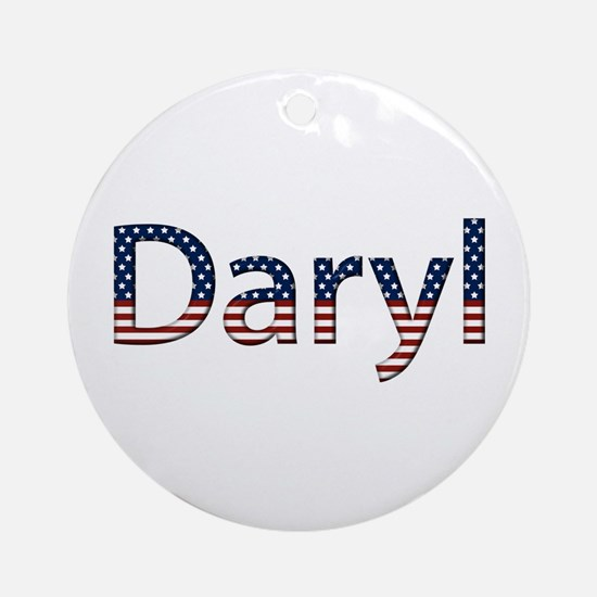 Daryl Stars and Stripes Round Ornament