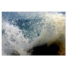 p2511. wavecrash, downcape Canvas Art