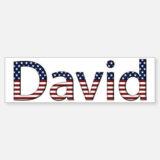David Stars and Stripes Bumper Car Car Sticker