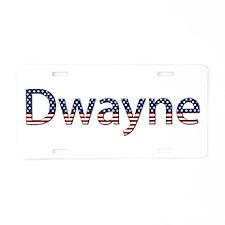 Dwayne Stars and Stripes Aluminum License Plate