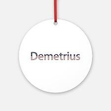 Demetrius Stars and Stripes Round Ornament