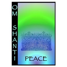 Om Shanti Means Peace Framed Print