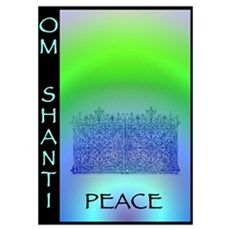 Om Shanti Means Peace Poster
