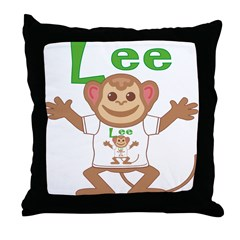 Little Monkey Lee Throw Pillow