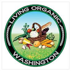 Living Organic Washington Poster