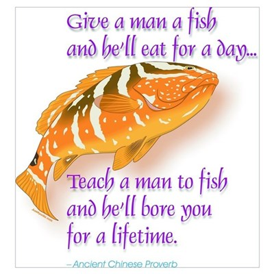 Give A Man A Fish Canvas Art