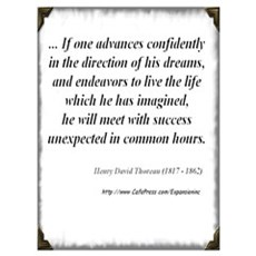 (Success - Thoreau - C) Framed Print