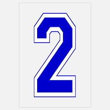 Varsity Font Number 2 Blue
