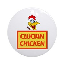 Cluckin Chicken Ornament (Round)