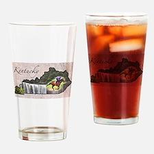 Cute Kentucky Drinking Glass