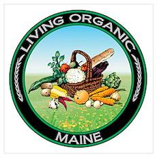 Living Organic Maine Poster
