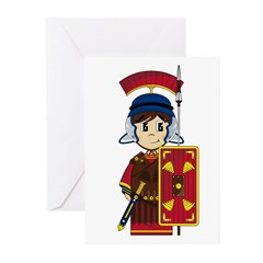 Cute Roman Soldier Greeting Cards (Pk of 20)