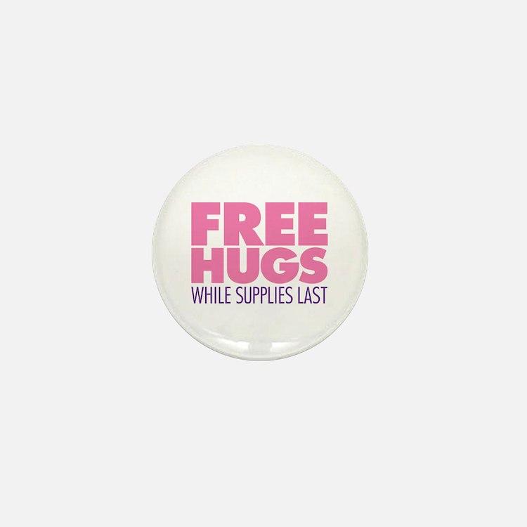 Free Hugs Pink Mini Button