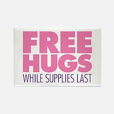 Free Hugs Pink Rectangle Magnet
