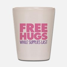 Free Hugs Pink Shot Glass