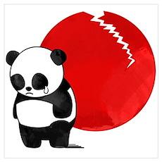 Sad Panda Bear Poster