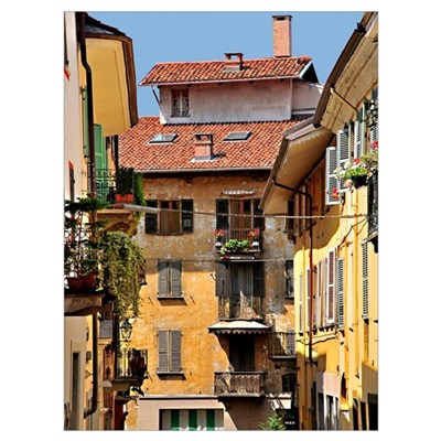 Balconies and Doors Framed Print