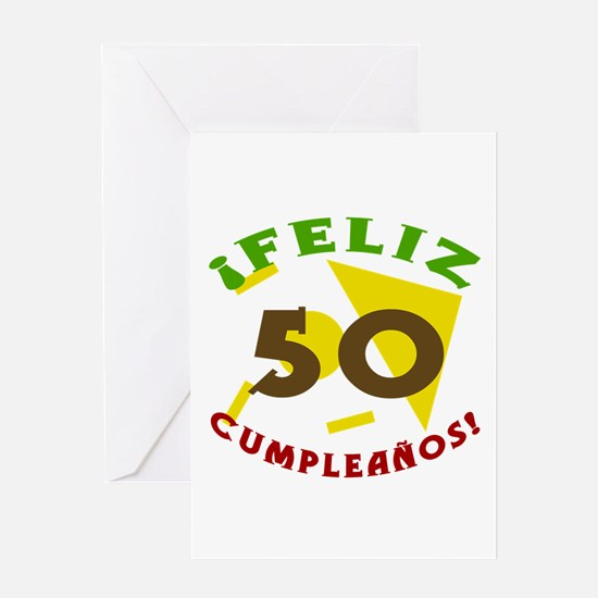 Feliz Cumpleaños (50) Greeting Card