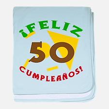 Feliz Cumpleaños (50) baby blanket