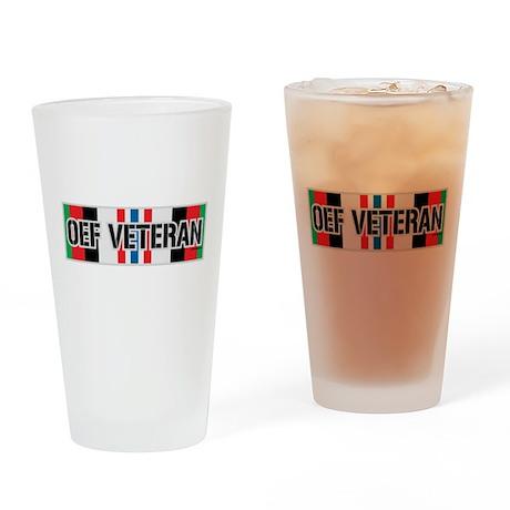 OEF Veteran Ribbon Drinking Glass