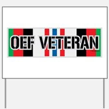 OEF Veteran Ribbon Yard Sign