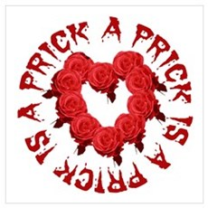 A Prick Is a Prick Roses Canvas Art