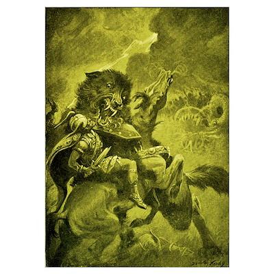 Odin & Fenris - Yellow Poster