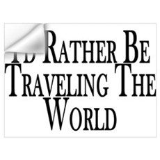 Rather Travel The World Wall Decal