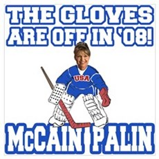 McCain Palin Gloves Are Off Poster