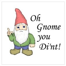 Oh Gnome You Di'nt! Framed Print