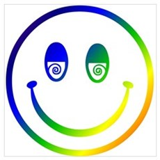 Stoned Smiley Poster