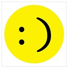 Text smiley face Poster