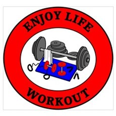Enjoy Life Workout Framed Print