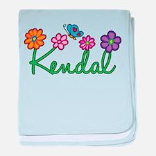 Kendal Flowers baby blanket
