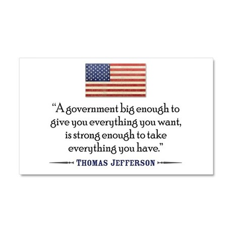 Thomas Jefferson: Government Car Magnet 20 x 12