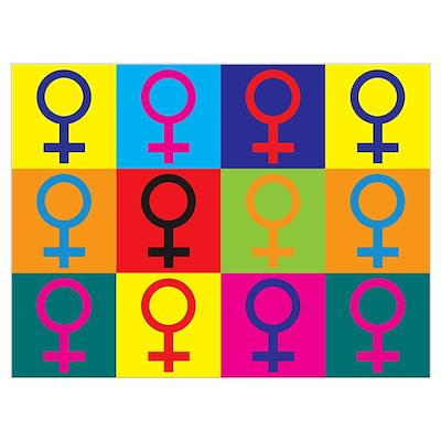 Feminism Pop Art Poster