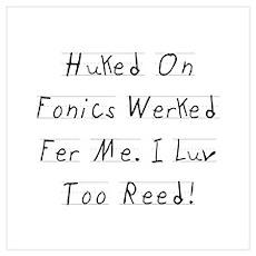 Huked On Fonics Poster