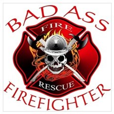Bad Ass Firefighter Framed Print