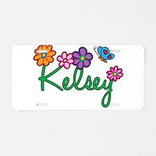 Kelsey Flowers Aluminum License Plate