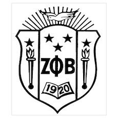 ZETA CREST - BLACK Poster