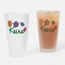 Keira Flowers Drinking Glass