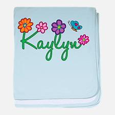 Kaylyn Flowers baby blanket