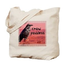 Crow Goddess Tote Bag
