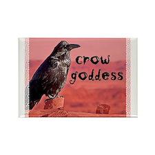 Crow Goddess Rectangle Magnet