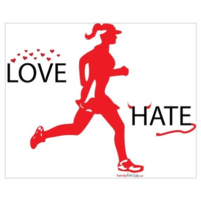 Ladies Love Hate Running Canvas Art