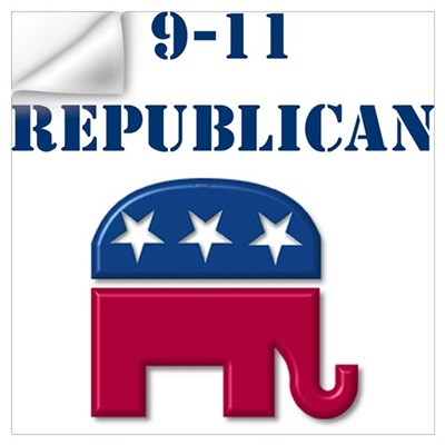 """9-11 Republican"" Wall Decal"